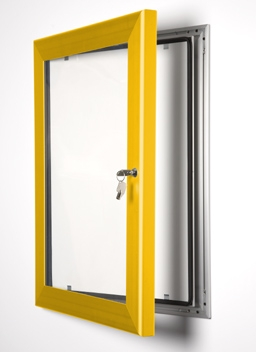 Locking Poster Cases Choice Of 13 Colours Power Display