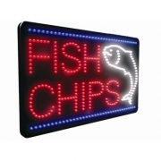 Fish and Chips LED Sign