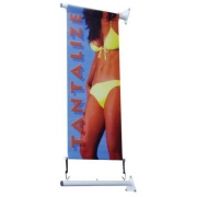 Wall Mounted 45cm Banner Pole Kit