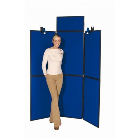 6 Panel Display Stand with Header Panel