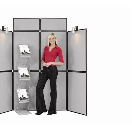 8 Panel Display Stand with Double Header Panel