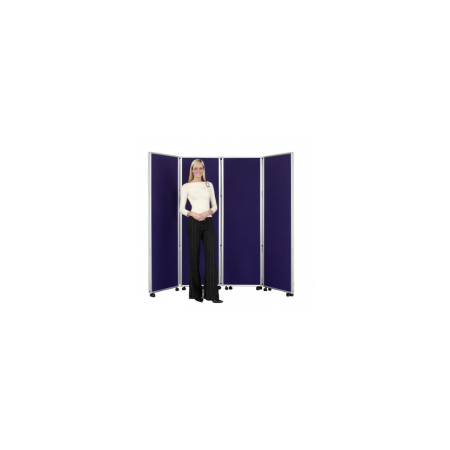 Concertina Mobile Room Dividers 1800mm high  - Woolmix