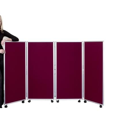 Concertina Mobile Room Dividers 1200mm high - Nyloop