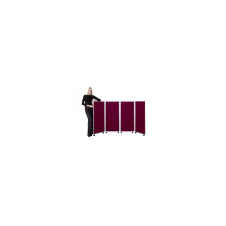 Concertina Mobile Room Dividers 1200mm high - Woolmix