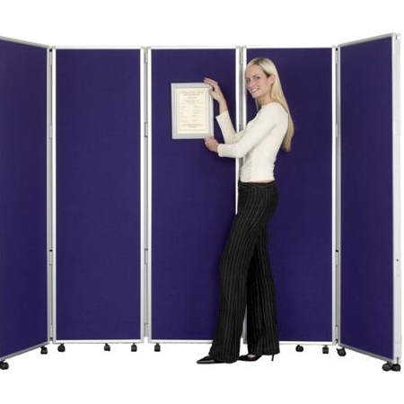 Concertina Mobile Room Dividers 1500 mm high - Nyloop