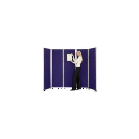 Concertina Mobile Room Dividers 1500mm high - Woolmix
