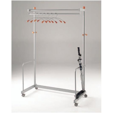 Deluxe freestanding coat rail