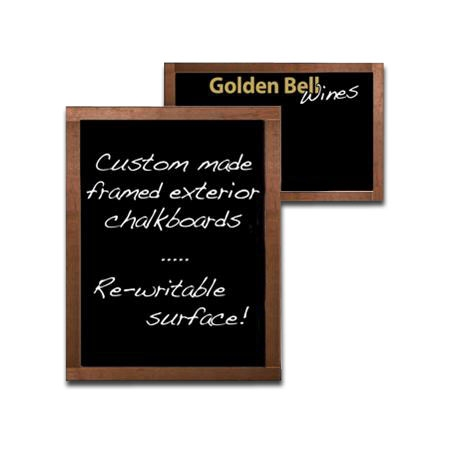 Exterior Framed Chalkboards