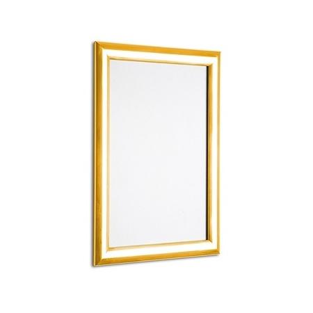 Polished gold snap frame