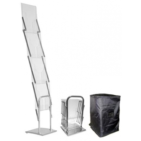Designer Folding literature stand A4