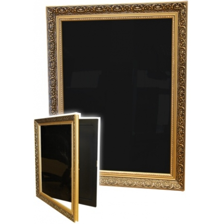 A2 Ornate Gold Wooden Poster Frame | Power Display