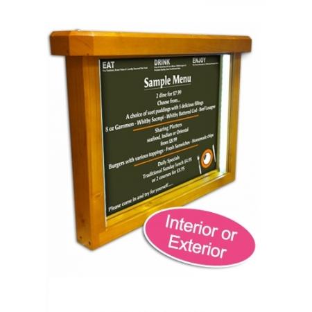 Wooden menubox