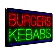 Burgers - Kebabs LED Sign
