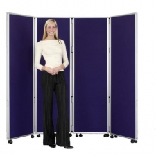 Concertina Mobile Room Dividers 1800 mm high - Nyloop