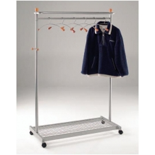 Deluxe freestanding coat rail with Storage