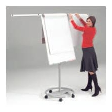 Mobile Pro Flipchart Easel with side arms and magnets