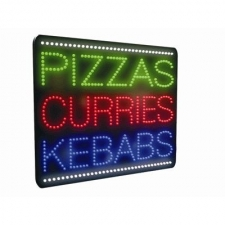 Pizza Curry Kebabs LED Sign