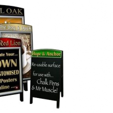 Premium Wooden A-Board with Personalised Header