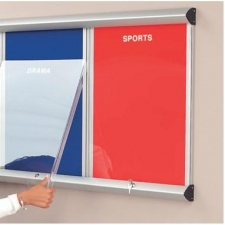Flame Resistant Shield Showline Multi-bank noticeboard system