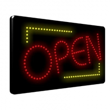 Open 3 LED Sign